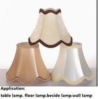 Wholesale Promotion Europe Style Luxury Fabric E27 Lamp Covers Shades Used for Small Table Lamps Wall Lights Floor Lamp Beside Lighting Accessories
