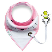 bib fashion - Fashion Newborn Baby Bib With Clip Baby Care Burp Cloth Cotton Double Layer Baby Saliva Towel Double Wear Triangle Bib