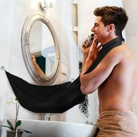 Wholesale 1 Pc Man Bathroom Apron Black Beard Care Trimmer Hair Shave Apron for Man Waterproof Floral Cloth Household Cleaning Protection