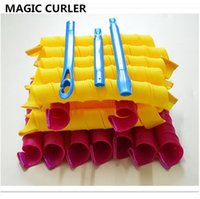 Wholesale Magic Hair Rollers Rollers Hooks tools DIY Magic Hair Curler Roller Magic Circle Hair Styling Rollers Curlers OPP bag