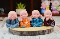 Wholesale set of different action monks car orname creative home decorations students birthday small gifts crafts handmade resin