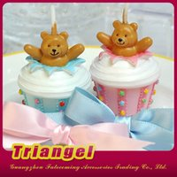 Wholesale Top Quality Wedding Favor Gifts Ice Creen Cake Candles For Wedding Birthday Christmas Party Decoration