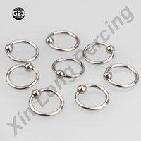 Precio de Pendientes del pezón-2 piezas de venta al por menor G23 Titanium16g Septum Piercing Nose anillo de cierre de pezón labio Tragus ceja pendiente anillos de nariz Body Jewelry
