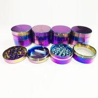 Wholesale Rainbow Grinders Zinc Alloy Metal Grinders mm Diameter Parts Herb Grinders Herb Crushers Fast Shipping