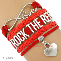 american association - Pieces Infinity Love Rock the Red Heart Bracelet Heart Disease and Stroke Awareness Bracelet American Heart Association