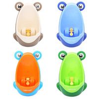 Wholesale Brand New Baby Boy Potty Toilet Training Frog Children Stand Vertical Urinal Boys Penico Pee Infant Toddler Wall Mounted Urinals