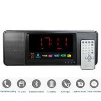 Wholesale W Digital Radio FM Bluetooth Speaker with Remote Control Alarm Clock FM Stereo Receiver MP3 Player Portable Radio Y4369A