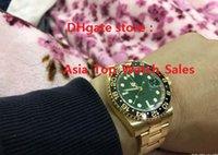 Compra Cerámica asia-El nuevo reloj de alta calidad de lujo Asia 2813 Movimiento mecánico 40MM verde bisel de cerámica GMT 116718 16718 Automatic Mens Watch