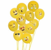 Wholesale yellow emoji ballons inches birthday party Halloween party ballons Christmas party decoration ballute airballon
