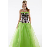acrylic portraits - 2016 Camo Prom Dresses Short Sweetheart Satin A Line Floor Length Party Dress Camo Ball Gown with Glitter Net Ball Gown Skirt