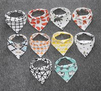 Wholesale 2017 styles Baby INS cotton bibs Newborn KIDS Burp Cloths double layer girls boys cartoon animal owl watermelon pattern bibs set
