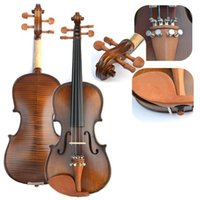 acoustic basswood spruce - High Quality Handmade Wood Tiger Violin Practice Professional Grading Test Jujube Wood Spruce Wood Violin
