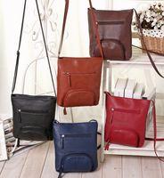 Wholesale Women Fashion Shoulder Bag Retro Messenger Bag Cross Body Bag Handbag Satchel Bags Mobile Phone Bags Purse Cosmetic Bags Organizer OOA1016