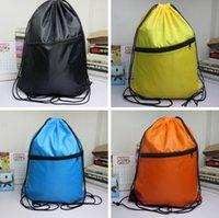 Wholesale New Portable Waterproof Drawstring Backpack Polyester Shoulder Bag For Sports Travel Hiking Large Capacity Drawstring Bag PPA648