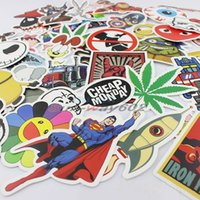 Wholesale 300pcs bag Hot Sale Car Styling DIY Cartoon Car Sticker Decal Bicycle Motorcycle Laptop Skateboard Stickers Bomb Doodle Graffiti Mix