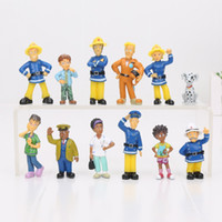 Wholesale 12 Set Fireman Sam action figure toys cm Cute Cartoon PVC Dolls Toys For Boys Toys Kids Gifts