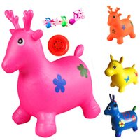 Wholesale Special explosion proof increase thickening jump vaulting horse coloured drawing or pattern g children inflatable jumping toys wholesal