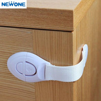 Wholesale 10 Pack New Cabinet Door Drawers Refrigerator Toilet Lengthened Bendy Safety Plastic Locks For Child Kid Baby Safety