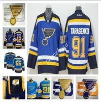27 - 50th St Louis Blues Alex Pietrangelo Blues David TJ Oshie David Backes Vladimir Tarasenko Premier hockey Jersey