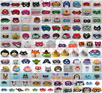 Wholesale Super hero Mask Frozen Cartoon Eye Shade for Children Pikachu Poke Mask for Kids Christmas Halloween Cosplay Prop