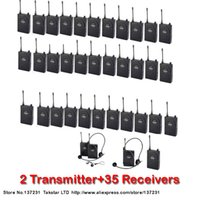 Wholesale Tour guiding training Takstar UHF UHF frequency Wireless Tour Guide System m Operating Range Transmitter Receivers