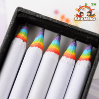 Wholesale 100pcs set school pencil Rainbow shell HB pencil wooden pencil office learning General packed in box