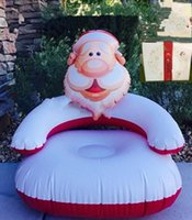 Wholesale Kids PVC Inflatable Sofa Santa Claus Playroom Couch Chair Seats Inflatable Air Sofa Thicken Seat Christmas Gift For Children PPA703