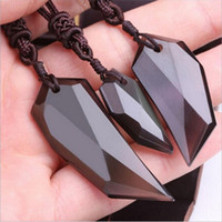 bad models - Natural crystal quality goods Ice of obsidian Spike pendant Men and women lovers model Self defense to ward off bad luck