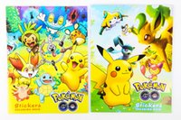 Wholesale Xmas Pikachu Coloring Books Poke Children Cartoon Early Educational Anime Art Book With Stickers Graffiti Book Children Gift OOA051
