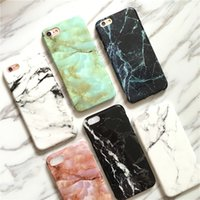 Wholesale Simple black and white marble pattern original creative apple s phone shell iPhone7 Plus frosted soft protective cover