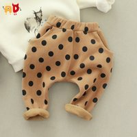 Casual Pants ANGEL VS DEVIL AD Girl AD Cute Polka Dots Baby Boys Girls Pants Kids Thermal Fleece Trousers for Winter Children's Clothing 100% Cotton
