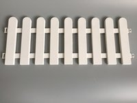 Wholesale D50 H19CM D19 inch H7 inch plastic barrier fence pvc Plastic Fence White Fence Christmas tree Fence Indoor
