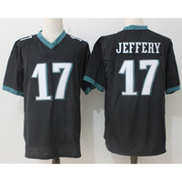 Tennis american eagles - Men s Philadelphia Eagles Alshon Jeffery Green Game Jersey Alshon Jeffery American football jersey Embroidery Logos Black Whie Green