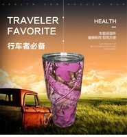Wholesale Free DHL oz Camouflage Rambler Tumbler Cups CAMO Vacuum Insulated Vehicle Beer Mugs Camouflage Colored Coolers
