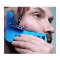 Wholesale Beard Bro Beard Shaping Tool Sex Man Gentleman Beard Trim Template hair cut hair molding trim template beard modelling tools