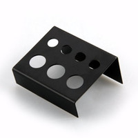 Wholesale Black Stainless Steel Tattoo Ink Cup Cap Holder Stand Holes Supply