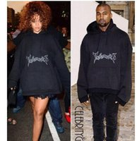 batwing sweatshirt - Vetements Oversized Hooded Hoodies Women Rihanna Kanye West Streetwear Brand Clothing Hoodie Men Plus Size GD Sweatshirts