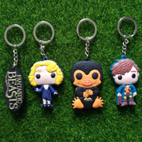 beast boy figure - Fantastic Beasts and Where to Find plastic NS Newt Scamander Niffler Keychain Key Chains Key Rings Women Men harry Potter Jewelry