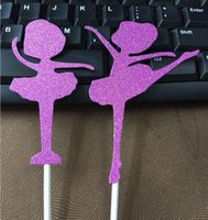 ballet party supplies - Hot Shiny Ballet Girl Cupcake Cake Toppers picks for Birthday Party favors Decoration supplies