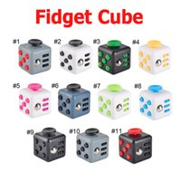 Big Kids Multicolor Plastic Novelty Fidget Cube Stress Relief Toys 11 colors for kids and adults Decompression stress ball wisdom Children Christmas Gift DHL 2107168