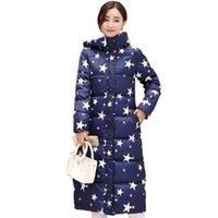 Wholesale Women s Winter Jacket Long Sleeves Winter Women Basic Coats Down Parkas Hooded Long Coats Outwears Warm FS1004