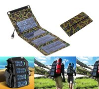 Single USB 5V/1A Li-polymer Battery Wholesale- Folding Solar Panel Power Source Mobile USB Charger for Cell phones GPS Digital Camera PDA 5V 7W Portable power charger