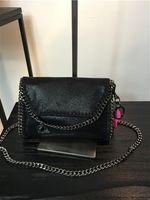 La fábrica Falabella MINI el bolso lanoso de la cadena del bolsillo del PVC de los ciervos de los 16.5cm con la cubierta libera el envío