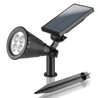 Wholesale Waterproof Garden Light Solar LED Lawn Lamp Wall Outdoor Lighting with Spike W LM IP65 Cool white