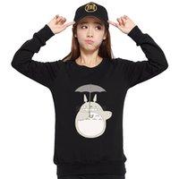 Wholesale Sudaderas Mujer Brand Kawaii Harajuku Totoro Printed Hoodies Sweatshirt Women Tracksuit For Female Moletom Femme Plus Size