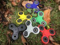 Wholesale New Hand Spinner Fingertips Spiral Fingers Gyro Torqbar Brass Ceramic Bearings Acrylic Hand Spinner Tri Spinner