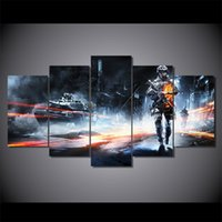 More Panel battlefield pc games - 5 Set Framed HD Printed Battlefield Game Painting Canvas Print room decor print poster picture canvas ny