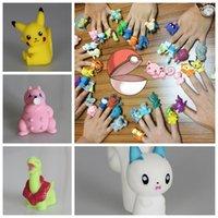 action fingers - Poke Pikachu Finger Puppet Figures Finger Toys Pocket Monster Action Pikachu Toys Poke Ball Doll Finger Toys Children s Gifts F24