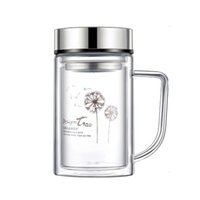 Wholesale Glass Cup for Home Drinking Vacuum Clear Glass Bottle Water Cup