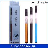 El mejor brote de la calidad CE3 Blíster Kit Vaporizador CBD brote tacto 280mAh batería O pluma Cartucho atomizador Vapor WAX Aceite de tanque e cigarrillo vape DHL